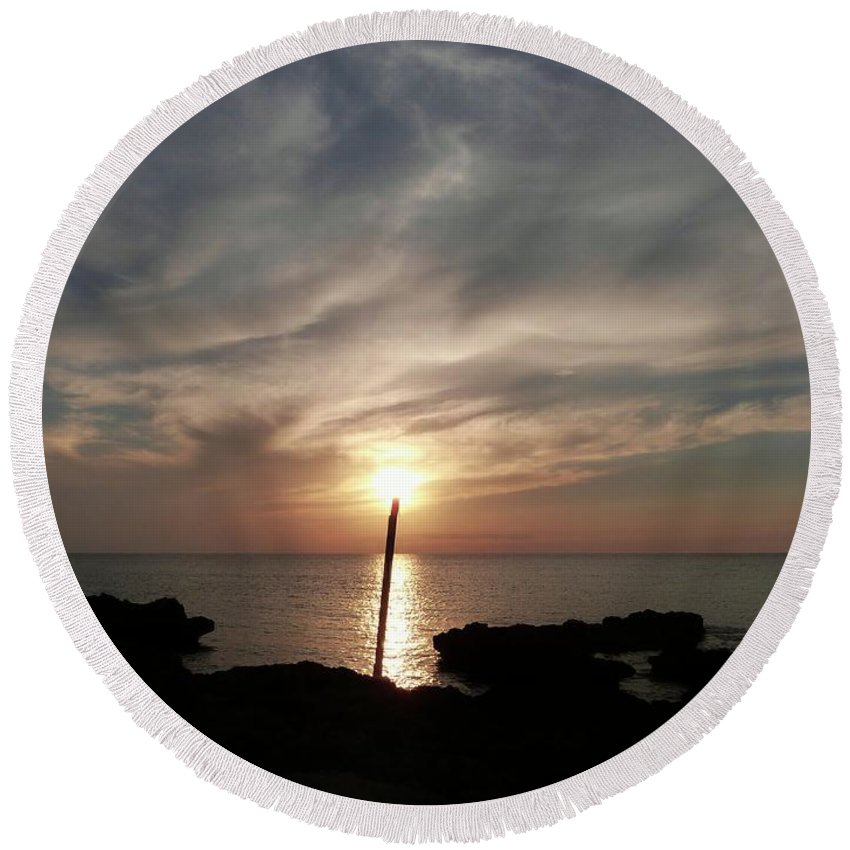 Color Round Beach Towel featuring the photograph Light The Sun by Amar Sheow