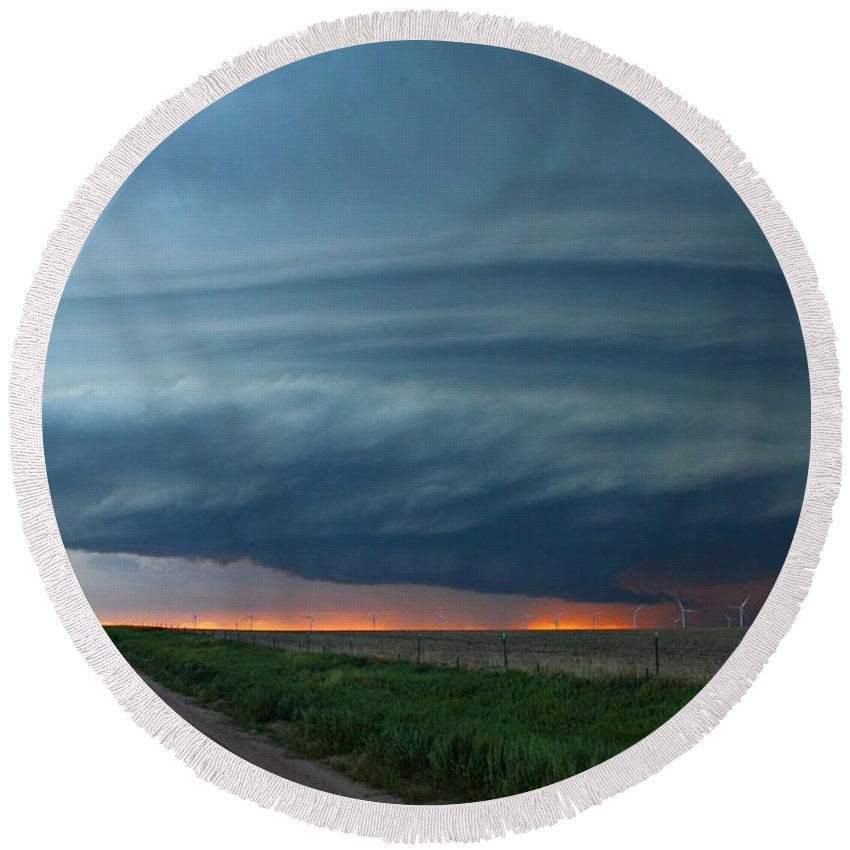 Limon Round Beach Towel featuring the photograph Limon Mothership 1 by Marcelo Albuquerque