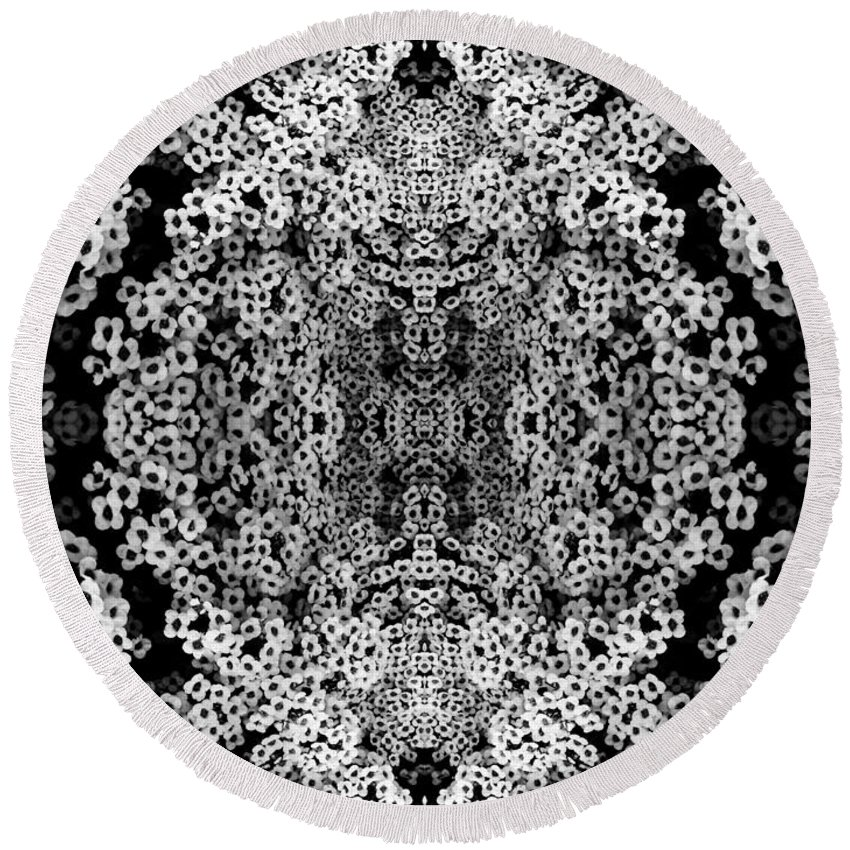 Flower Round Beach Towel featuring the photograph Little Flower Kaleidoscope by Andy Prendy