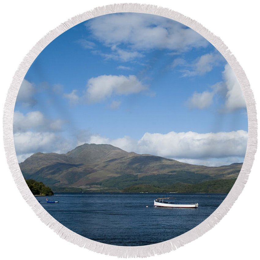 And Round Beach Towel featuring the photograph Loch Lomond by Anne Gilbert
