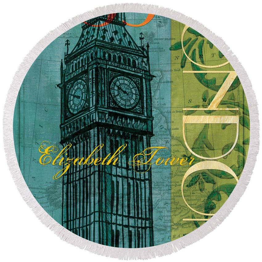 Big Ben Round Beach Towels