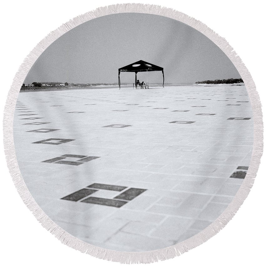 Asia Round Beach Towel featuring the photograph Loneliness by Shaun Higson