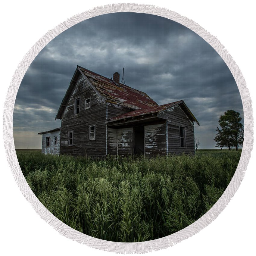 Landscape Round Beach Towel featuring the photograph Lost by Aaron J Groen