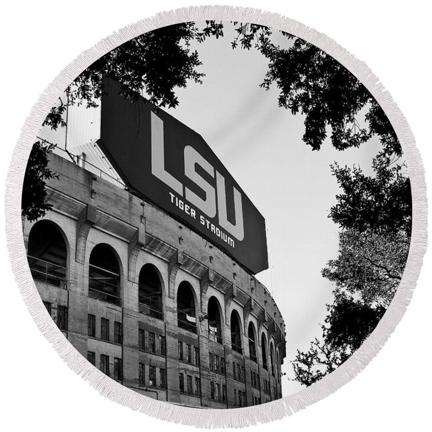 Lsu Tigers Photographs Round Beach Towels