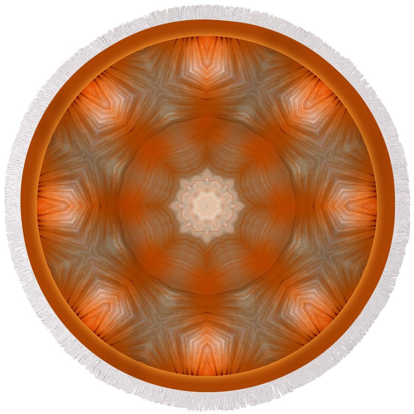 Luminescence Round Beach Towel featuring the digital art Luminescence II by Carlos Vieira