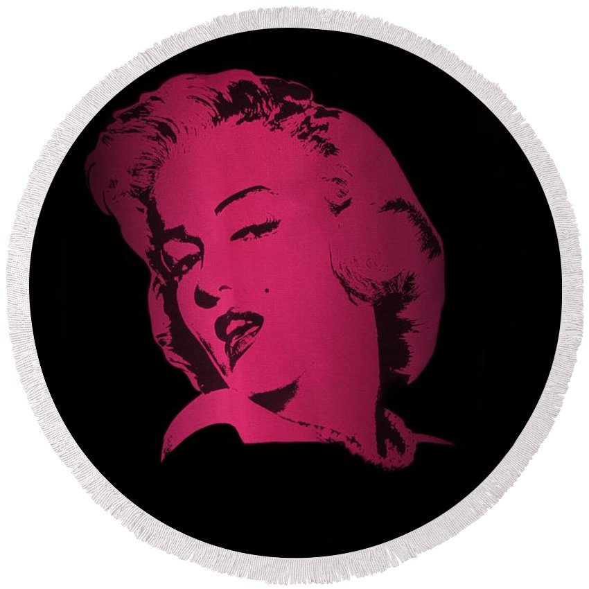 Marilyn Monroe Round Beach Towel featuring the photograph Marilyn Monroe by Movie Poster Prints