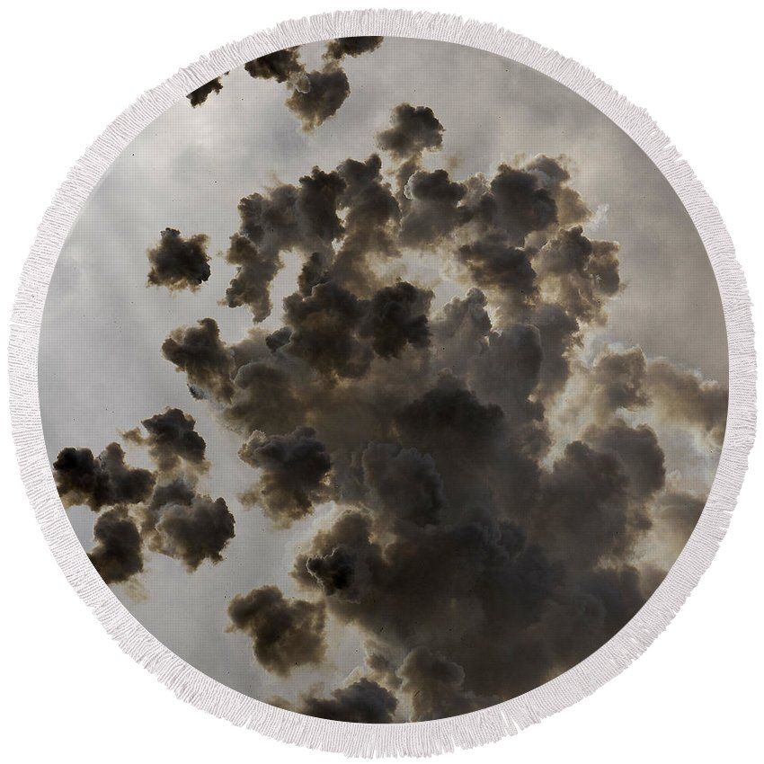 Mascleta Round Beach Towel featuring the photograph Mascleta Explosion by For Ninety One Days