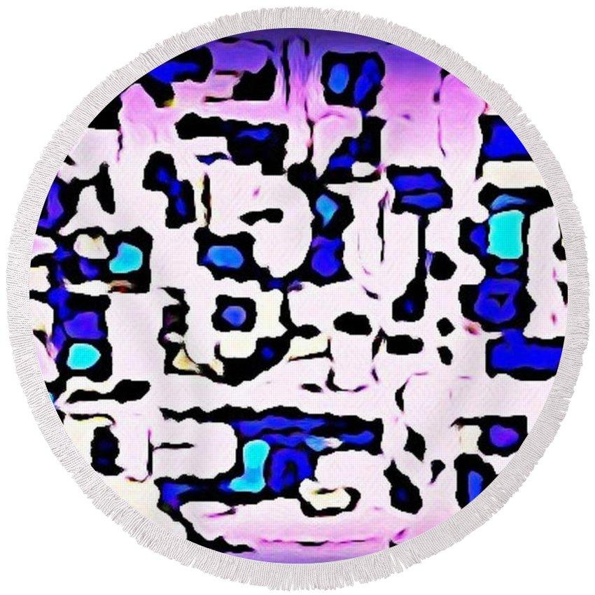Maze Round Beach Towel featuring the digital art Maze by John Malone