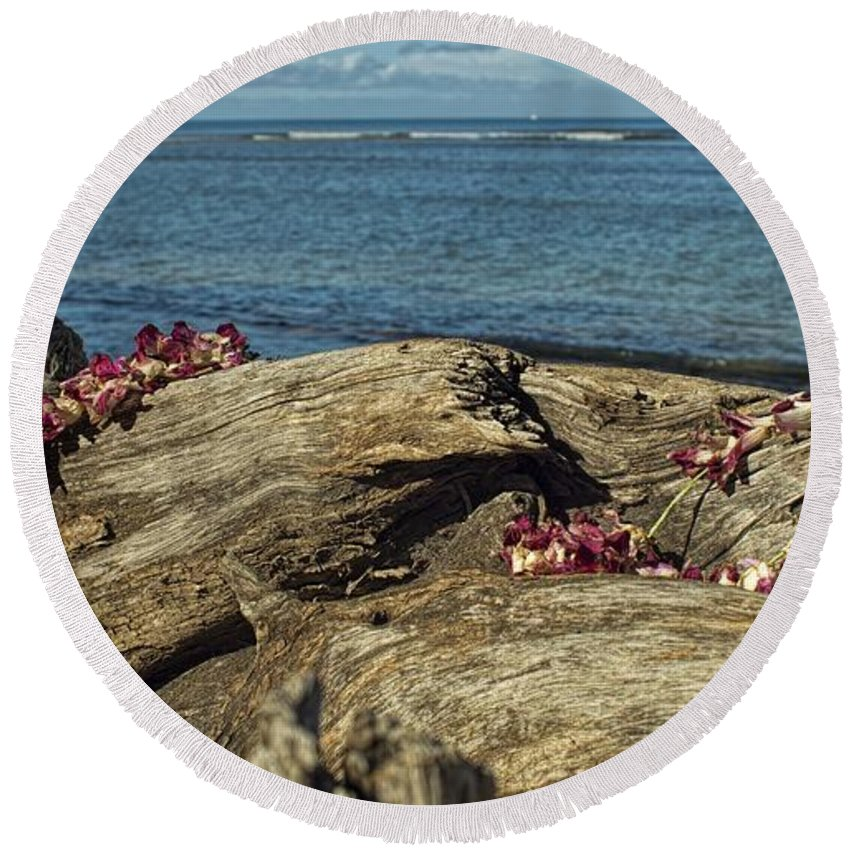 Two Round Beach Towel featuring the photograph Memories by Peggy Hughes