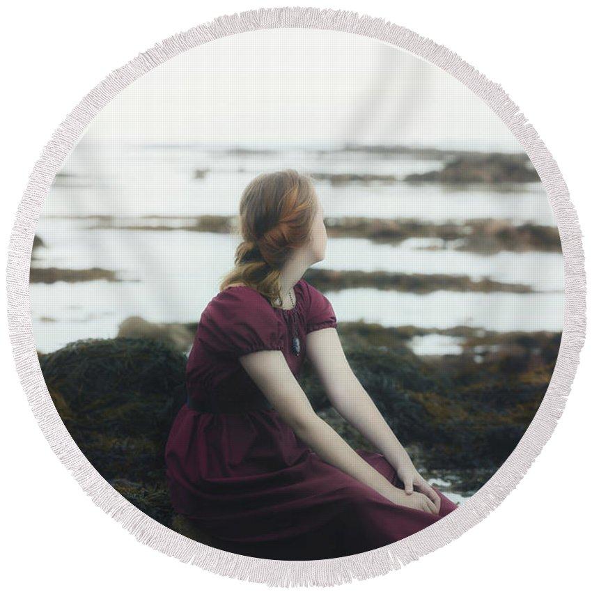 Girl Round Beach Towel featuring the photograph Mermaid by Joana Kruse