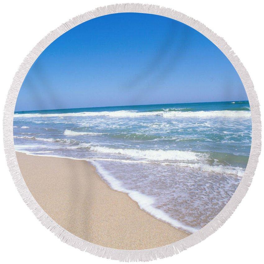 Beach Round Beach Towel featuring the photograph Merritt Island Nwr, Florida by Millard H. Sharp