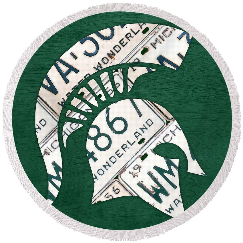 Michigan State Round Beach Towels