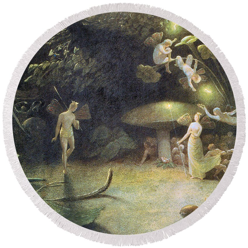 Francis Danby Round Beach Towel featuring the photograph Midsummer's Night Dream by Francis Danby