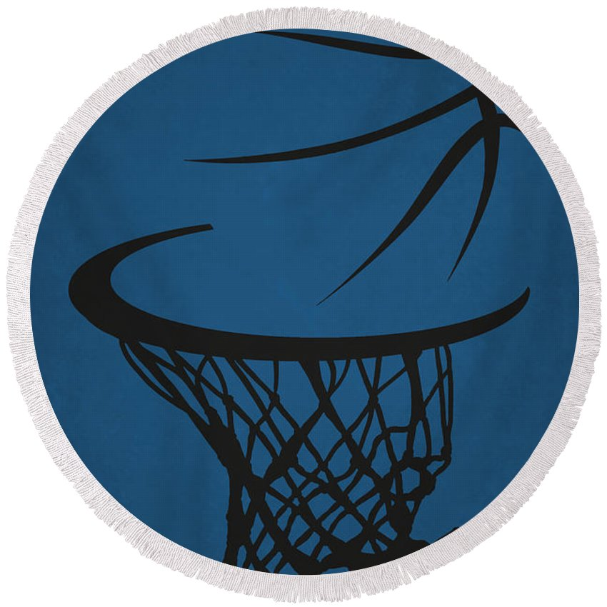 Timberwolves Round Beach Towel featuring the photograph Minnesota Timberwolves Hoop by Joe Hamilton
