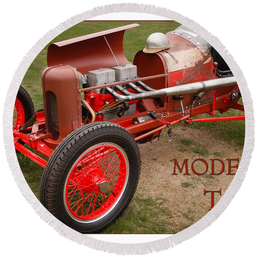 Model T Round Beach Towel featuring the photograph Model T Racer by Mike Penney