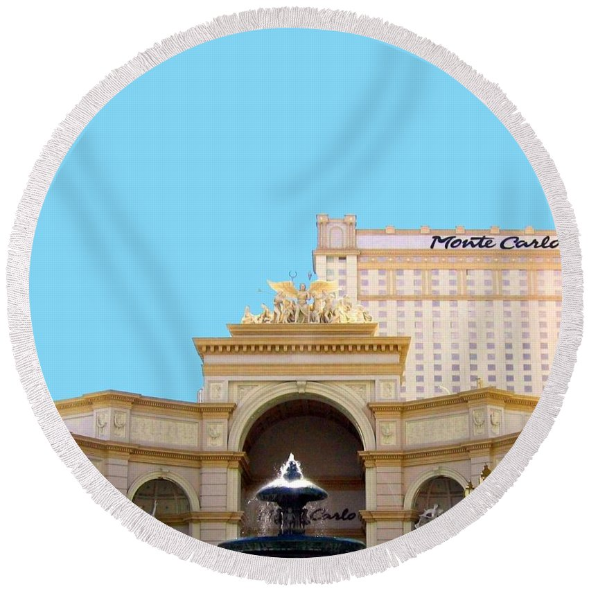 Monte Carlo Round Beach Towel featuring the photograph Monte Carlo by Will Borden