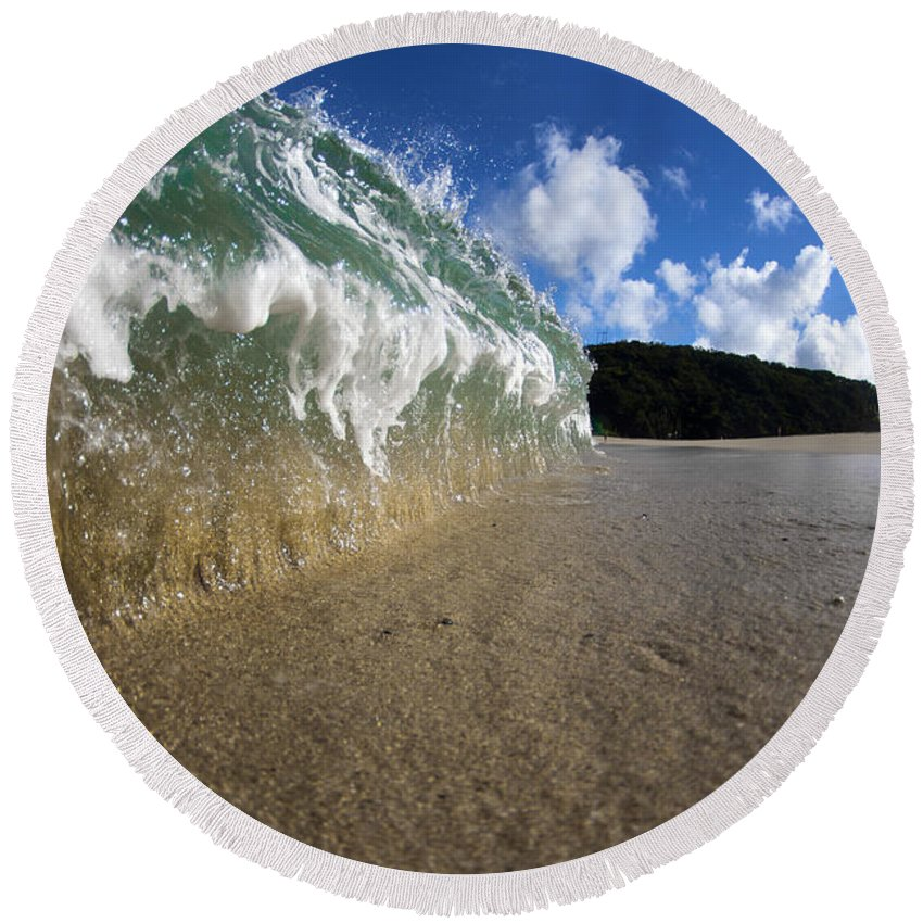 Wave Round Beach Towel featuring the photograph Moses Wave by Sean Davey
