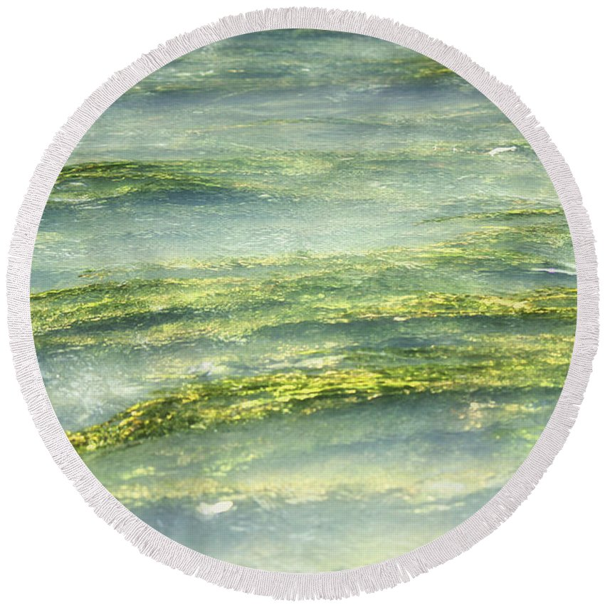 Water Round Beach Towel featuring the photograph Mossy Tranquility by Melanie Lankford Photography