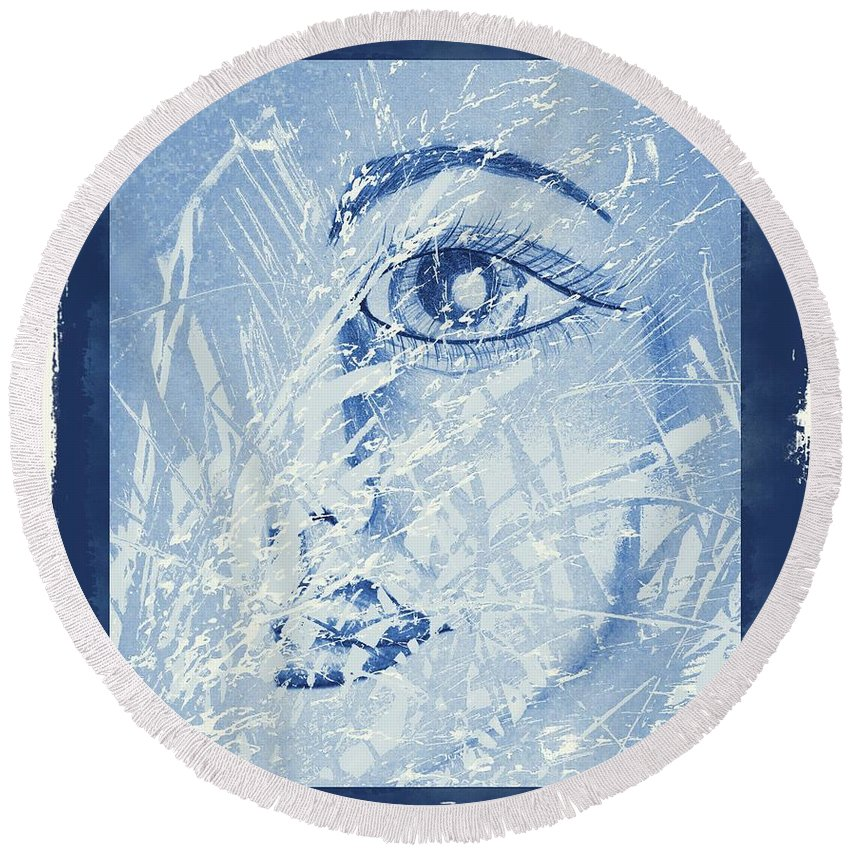 Mother Of Nature Round Beach Towel featuring the digital art Mother Of Nature by Maria Urso