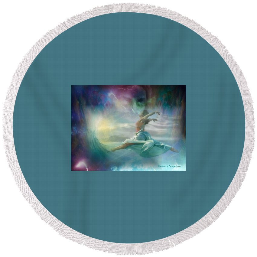 Dancing Round Beach Towel featuring the digital art Mourning To Dancing by Jewell McChesney