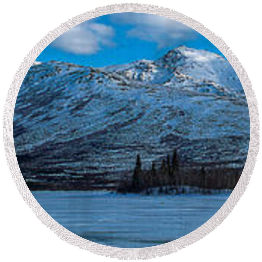 Mountain Round Beach Towel featuring the photograph Mt. Healy by Thomas Sellberg