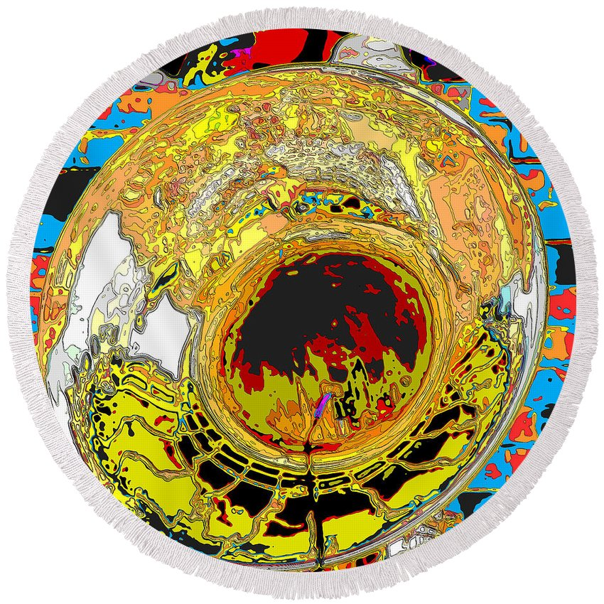 Tuba Round Beach Towel featuring the photograph Music Out Of Metal Xiii by C H Apperson