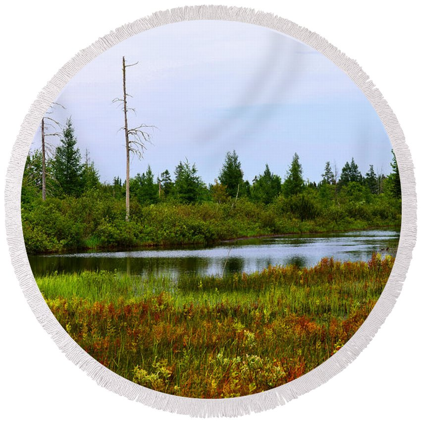 Nature Round Beach Towel featuring the photograph Natural Masterpiece by Michael Tucker