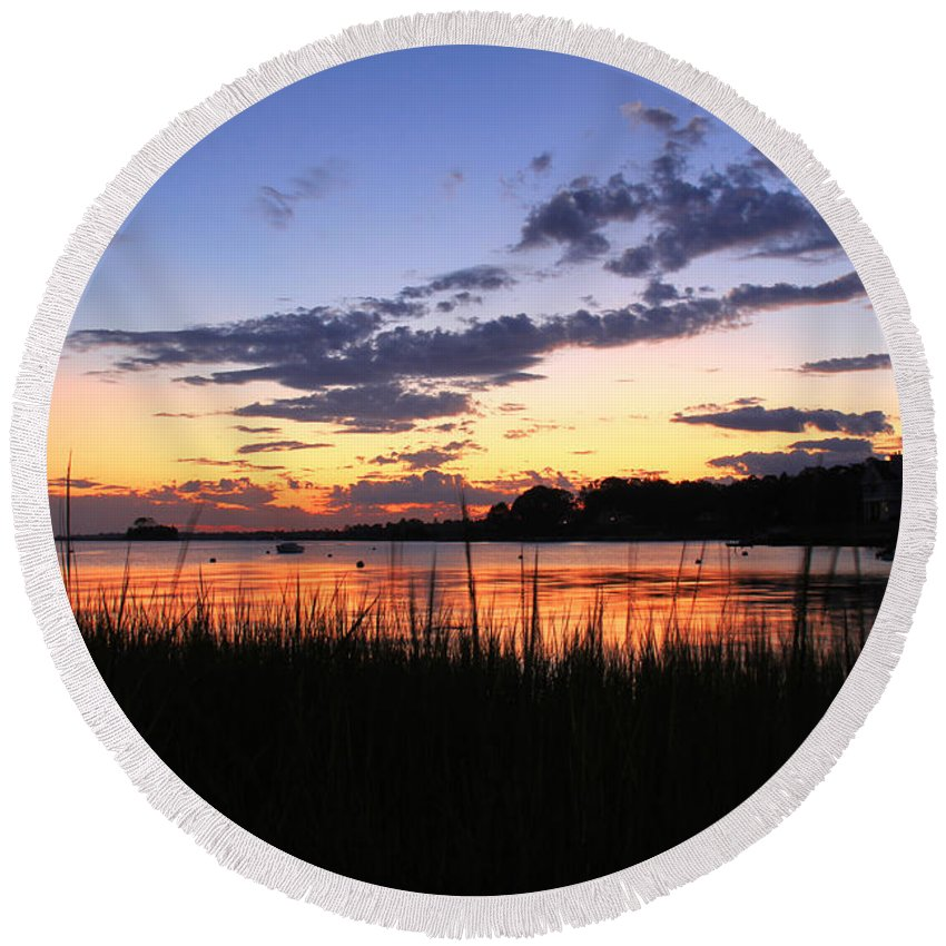 Nature Art Round Beach Towel featuring the photograph Nature In Connecticut by Mark Ashkenazi