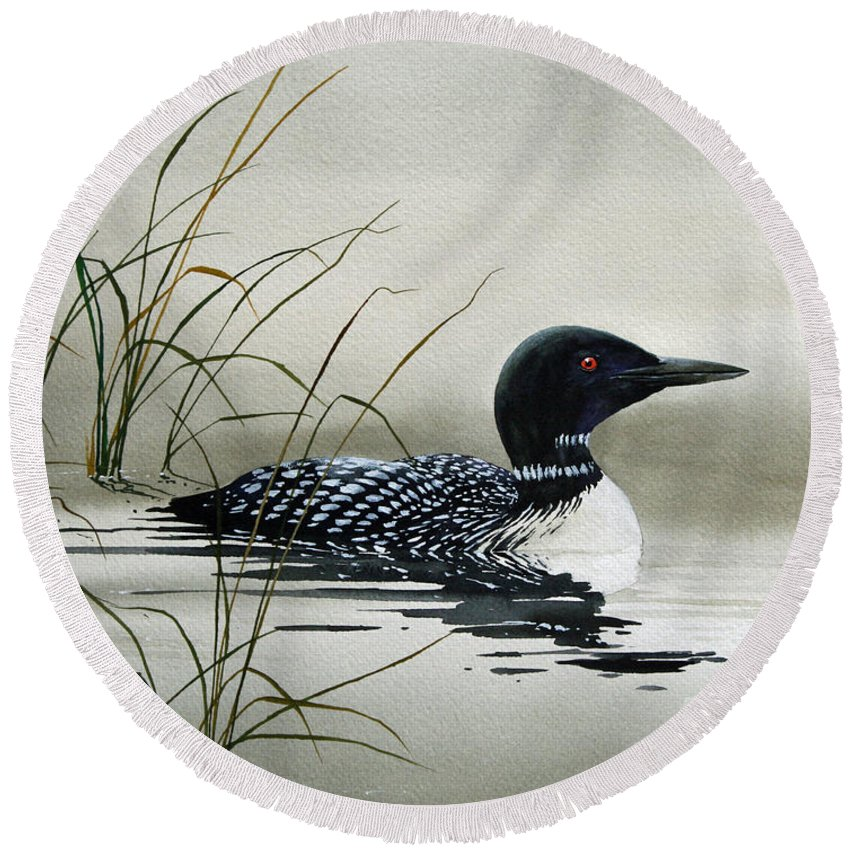 Loon Round Beach Towels
