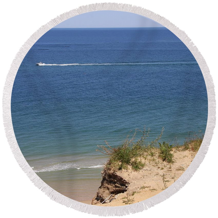 Beach Round Beach Towel featuring the photograph Nauset Light Beach - Cape Cod by Christiane Schulze Art And Photography