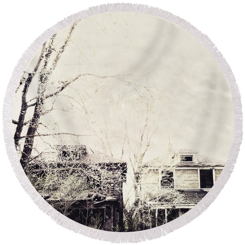 Two Round Beach Towel featuring the photograph Neighborhood by Margie Hurwich