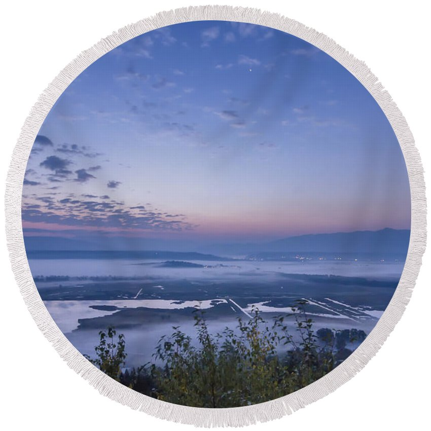 Knwr Round Beach Towel featuring the photograph New Day by Albert Seger