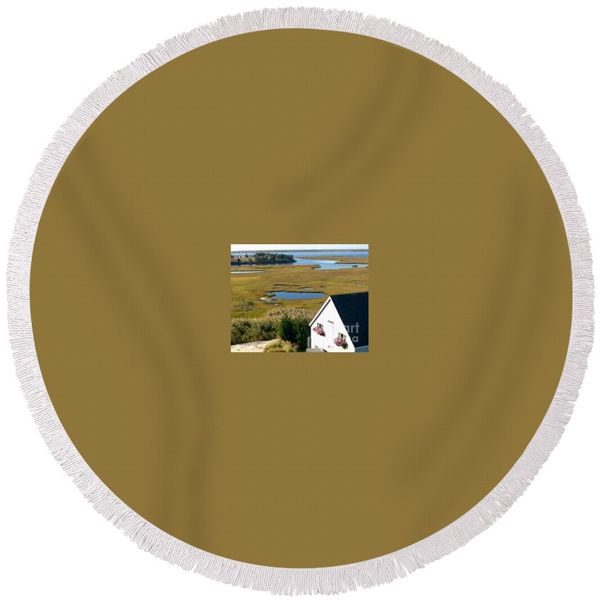 New Jersey Round Beach Towel featuring the photograph New Jersey's Beauty by Christy Gendalia