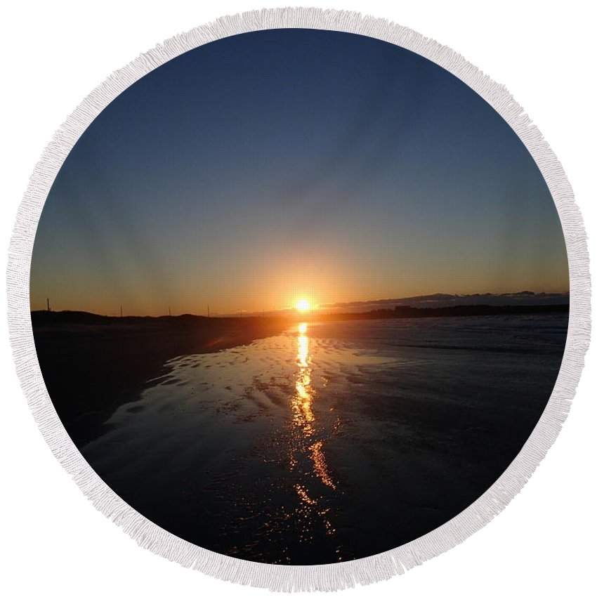 Nature Round Beach Towel featuring the photograph New Years Day 2015 by Robert Nickologianis