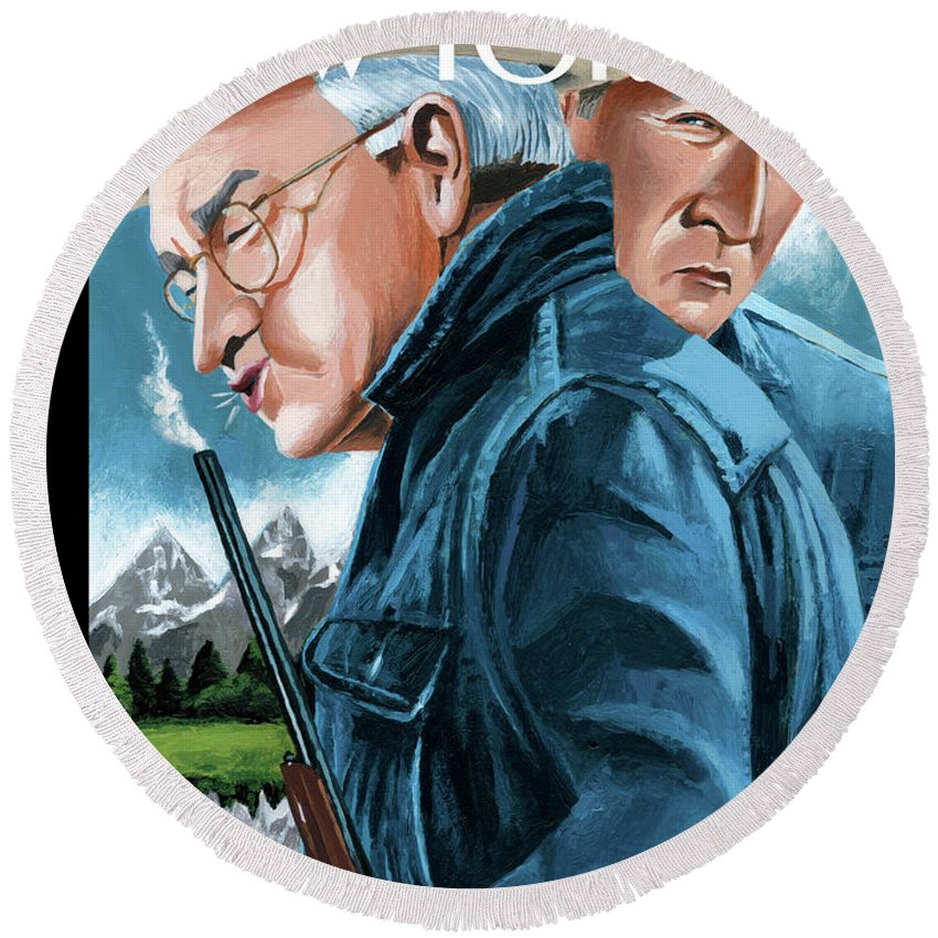 Dick Cheney Round Beach Towels