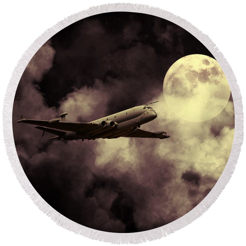 Nimrod Round Beach Towel featuring the digital art Nimrod Mr2 by J Biggadike