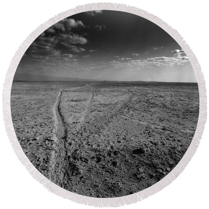 Drought Round Beach Towel featuring the photograph No Rain by Amanda Stadther