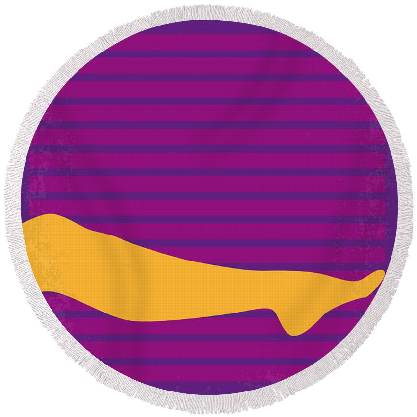 The Round Beach Towel featuring the digital art No135 My The Graduate Minimal Movie Poster by Chungkong Art
