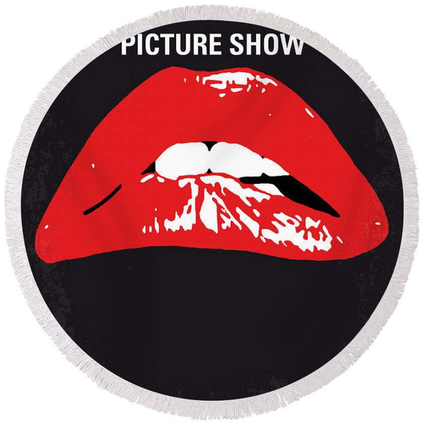 The Round Beach Towel featuring the digital art No153 My The Rocky Horror Picture Show minimal movie poster by Chungkong Art