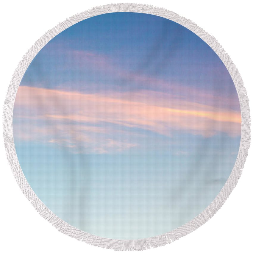 Sky Round Beach Towel featuring the photograph November Clouds 004 by Agustin Uzarraga
