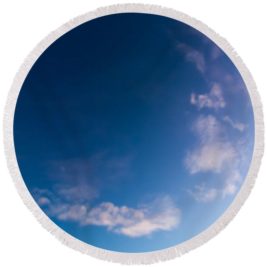 Sky Round Beach Towel featuring the photograph November Clouds 009 by Agustin Uzarraga