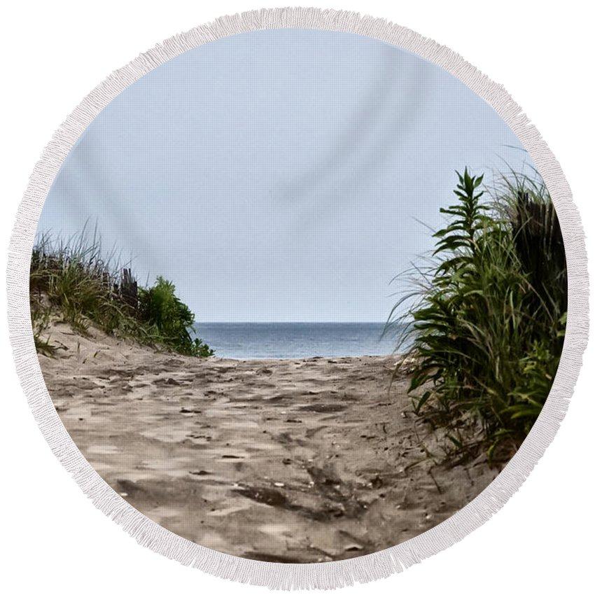 Ocean City Beach Round Beach Towel featuring the photograph Ocean City Beach by Bill Cannon