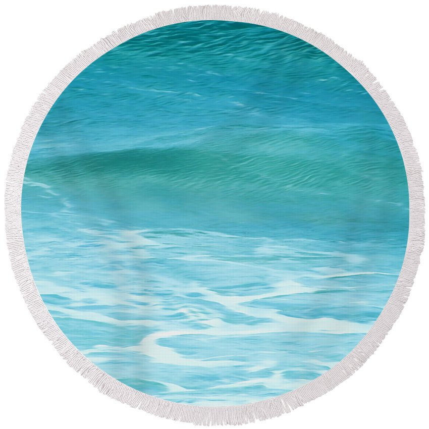 Ocean Round Beach Towel featuring the photograph Ocean Lullaby by Roselynne Broussard