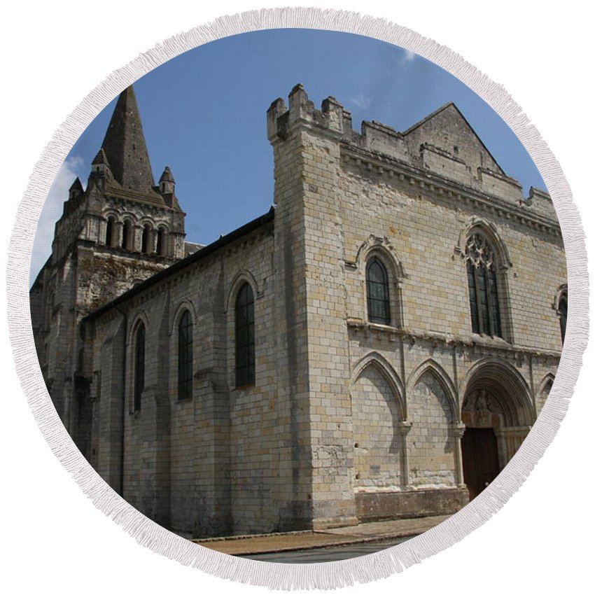 Church Round Beach Towel featuring the photograph Old Church - Loire - France by Christiane Schulze Art And Photography