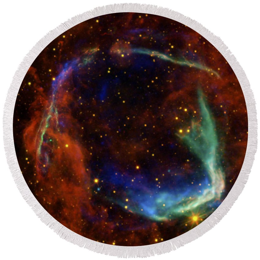 3scape Round Beach Towel featuring the photograph Oldest Recorded Supernova by Adam Romanowicz