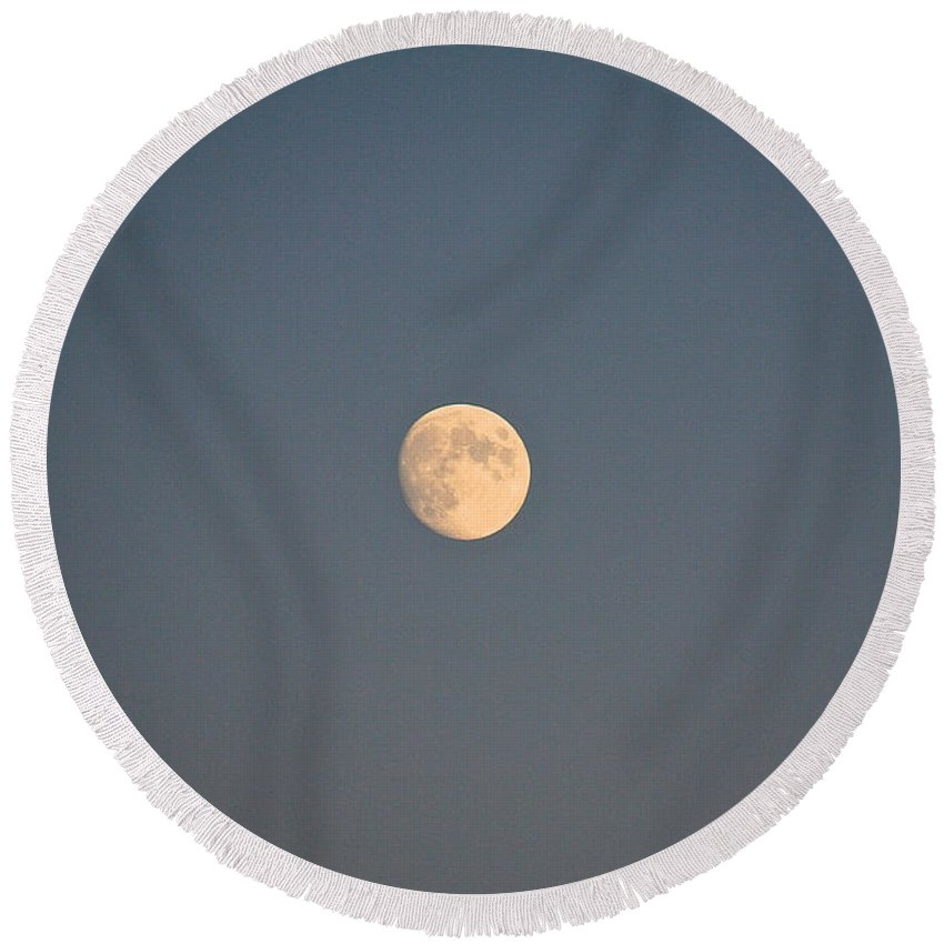 Space Round Beach Towel featuring the photograph Orbits by Susan Herber