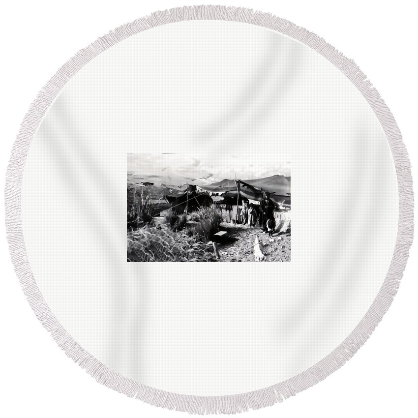 Vintage Round Beach Towel featuring the photograph Our Home by Image Takers Photography LLC