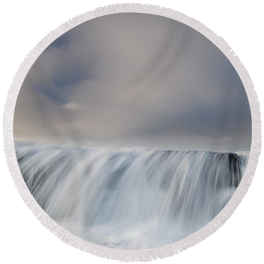 Humboldt Bay Round Beach Towel featuring the photograph Overflow by Greg Nyquist