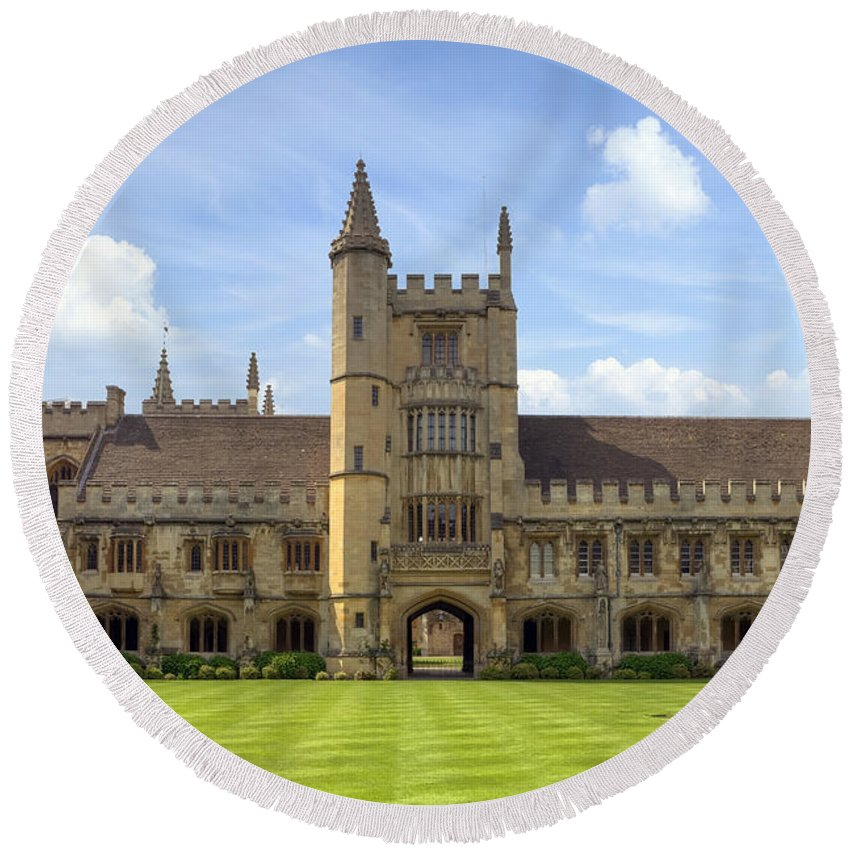Magdalen College Round Beach Towel featuring the photograph Oxford by Joana Kruse