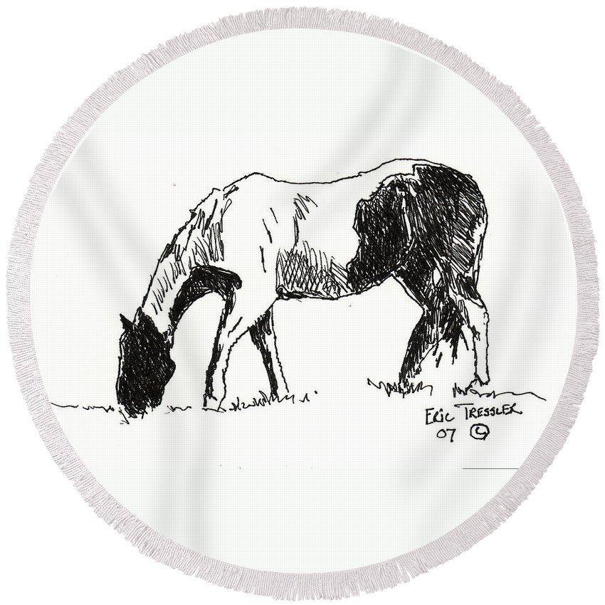 Drawing Round Beach Towel featuring the photograph Paint by Eric Tressler